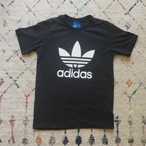 adidas Black Trefoil T Shirt